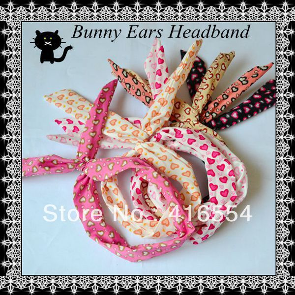 NEW ARRIVAL  love headbands Cute Women Girls Headband Rabbit bunny ears headbands 40pcs/lot free shipping
