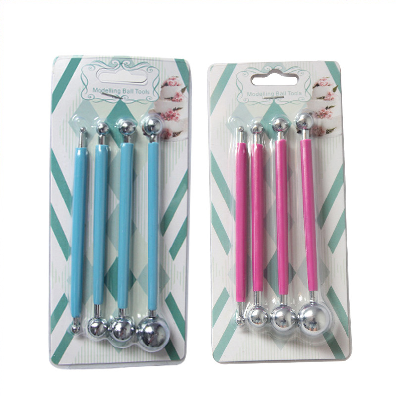 4pcs/set Professional  Playdough Tool Sculpture Tools DIY Stainless Steel Polymer Clay Tools Toys For Clay Carving