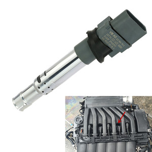 Car Ignition Coil Spark Plug Black Nozzle for VW Audi Seat Skoda 022905715A(China)