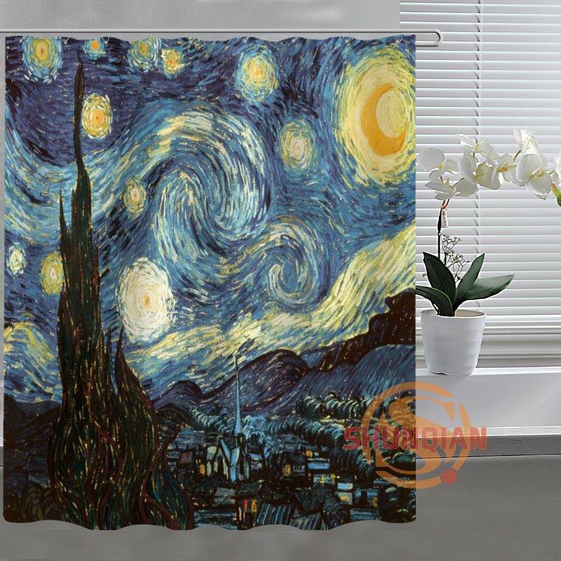 Online Shop Van Gogh Starry Night Custom Shower Curtain Bathroom Fabric For Bathroom  Decor Bathroom Curtain Acceptable Custom Bath Screens | Aliexpress ...