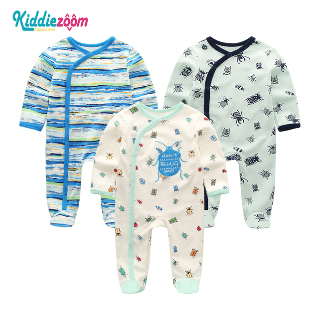 Novel Baby Rompers Infantil Newborn Cotton Pajamas Long Sheeve Baby Boy Clothes Roupa de bebe Baby Girl Clothes Costume Overalls