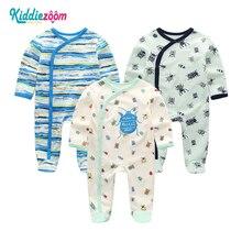 Novo Macacão de Bebê Infantil Recém nascidos Pijama de Algodão Longo Sheeve Roupa Do Bebé Roupa de bebe de Menina Roupa Do Bebê Traje Macacão