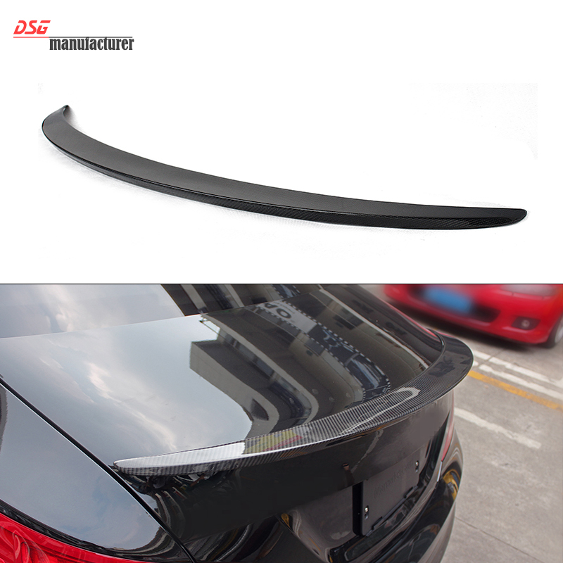 Mercedes W117 carbon fiber rear spoiler for benz CLA class CLA200 CLA45 CLA250 type trunk spoiler yandex mercedes x156 bumper canards carbon fiber splitter lip for benz gla class x156 with amg package 2015 present