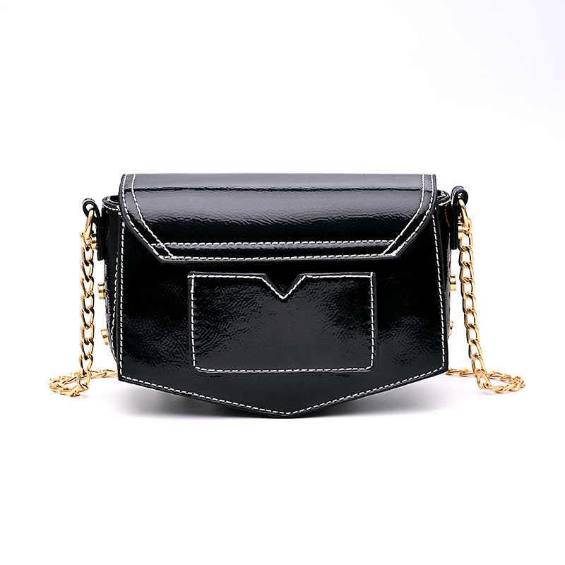 2018 Новая мода бриллиантами плеча цепи сумки из натуральной кожи черные однотонные кисточки мини маленький кошелек-клатч сумка через плечо для девочек