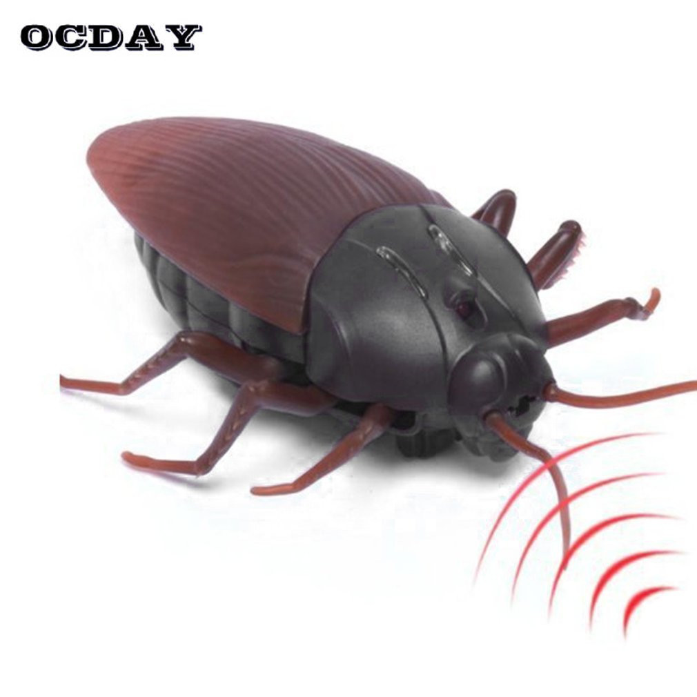 Simulation RC Cockroach Remote Control Mock Fake Cockroach RC Toy Prank Insects Joke Scary Trick Bugs Halloweenn Toy Anti-stress