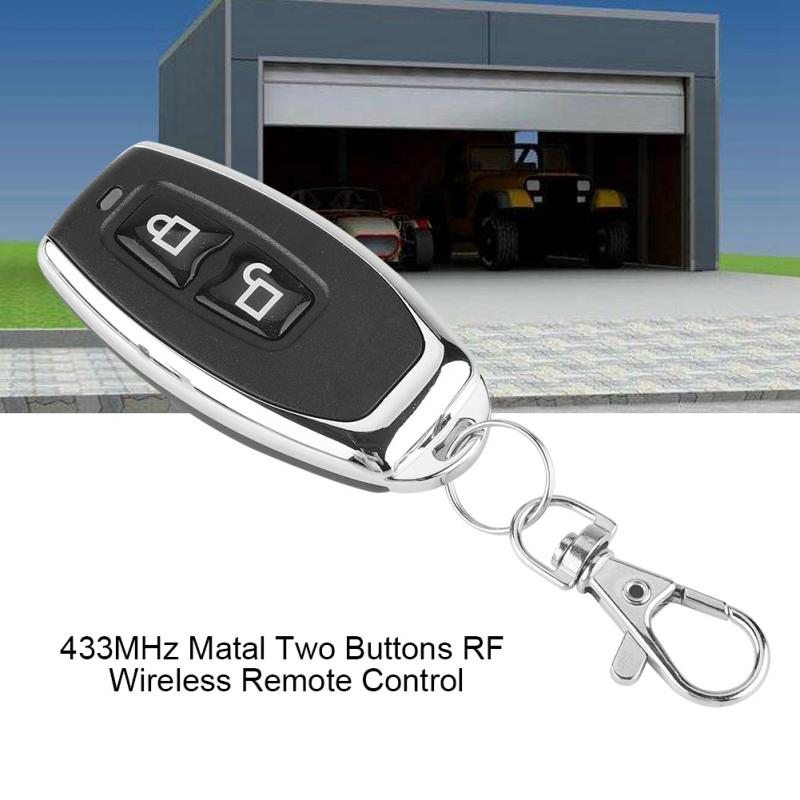 433MHz Matal Two Buttons RF Wireless Learning Code Remote Control Transmitter For Controlling Garage Doors And Other Equipments433MHz Matal Two Buttons RF Wireless Learning Code Remote Control Transmitter For Controlling Garage Doors And Other Equipments