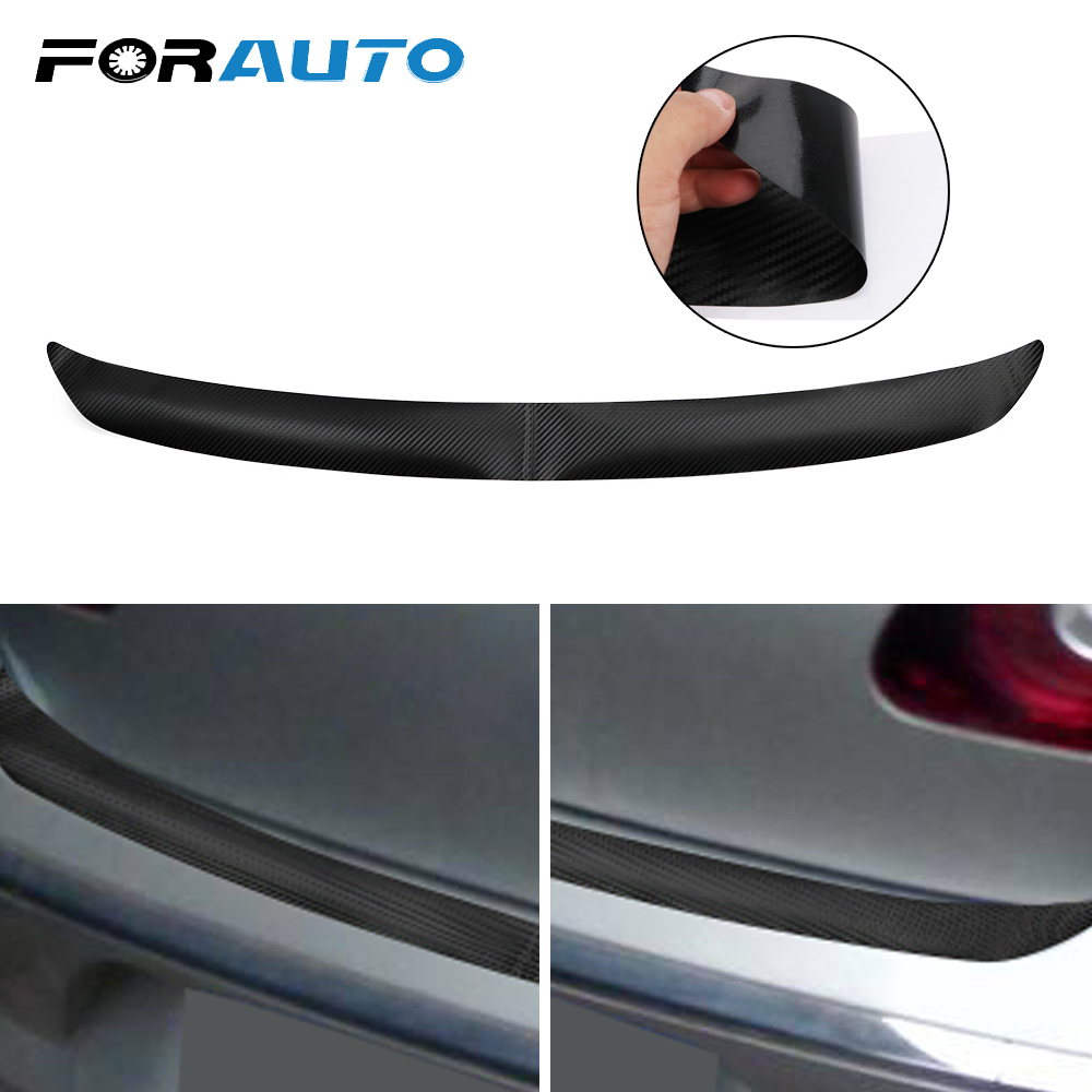 FORAUTO Rear Bumper Sticker Black <font><b>Carbon</b></font> Fiber For VW <font><b>Golf</b></font> MK6 R20 Trim Protector Sticker And Decals with Self Adhesive 108x7cm image