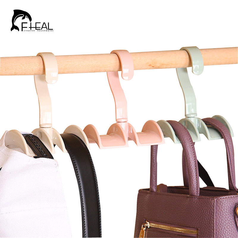 fheal 360 degree rotating storage rack creative clothes hat handbag belts scarves tie organizer storage holder hang hook - Creative Hat Racks