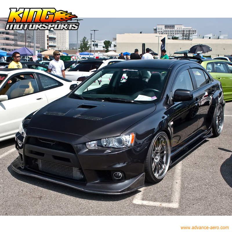 FOR 08 09 10 11 12 13 14 15 Lancer EVO 10 X Evoluation V Style Front Bumper  Lip Spoiler Bodykit JDM PU In Bumpers From Automobiles U0026 Motorcycles On ...