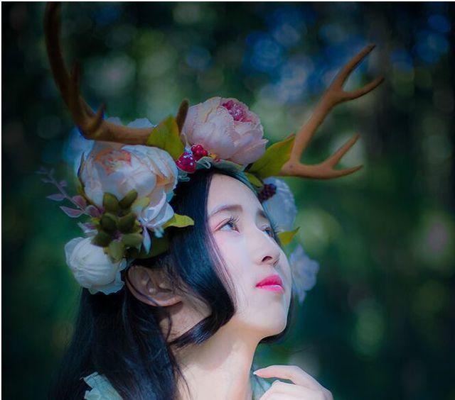 Envío gratis para mujer de las mujeres de cuerno de ciervo / astas flores hairband / headwear / ciervos de hadas cosplay
