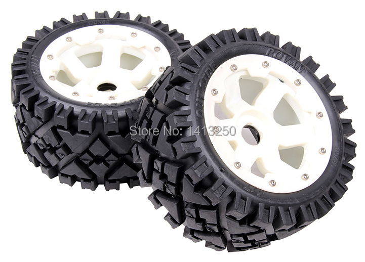 5B Rear All Terrain wheels set with nylon super star wheel for baja parts,free shipping 5b high strength nylon rear macadam wheels set for baja parts free shipping