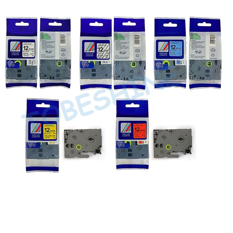 5pk משלוח חינם צבעים מעורבים TZ קלטת - אלקטרוניקה במשרד