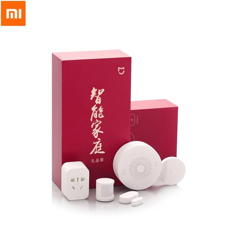 Original Xiaomi Kit maison intelligente capteur infrarouge corps humain nouvelle passerelle porte fenêtre capteur sans fil interrupteur ZigBee Socket 5 en 1