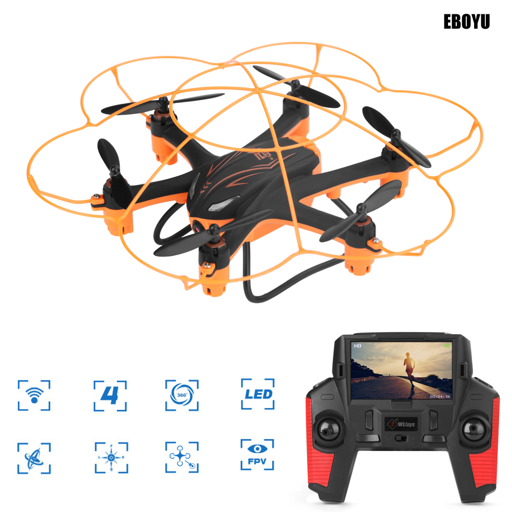 WLtoys Q383-A Q383-B Q383-C 2.4GHz 4CH Wi-Fi FPV Drone HD Camera w/ One Key Return Headless Mode RC Quadcopter Drone RTF professional rc drone fx r111f 5 8g fpv quadcopter 2 0mp camera 6 axis rc drone one key return headless mode led rtf vs q212g