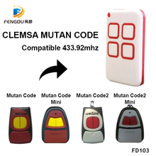 CLEMSA MUTANCODE מוסך שליטה מרחוק בקרת Mutan גיל קוד פקודת משדר שער בקרת 2019 חדש