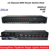2 xlot Большие скидки высокое качество 12 канала DMX Мощность переключатель обновления диско DJ этапа лазерный свет оборудования для Бесплатная