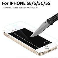 9 H 2.5D Frontale In Vetro Temperato per il iphone 5 s 5 5C SE Ecran Protezione Protezione Dello Schermo di Vetro di Protezione Flim per il iphone 5 5 s SE