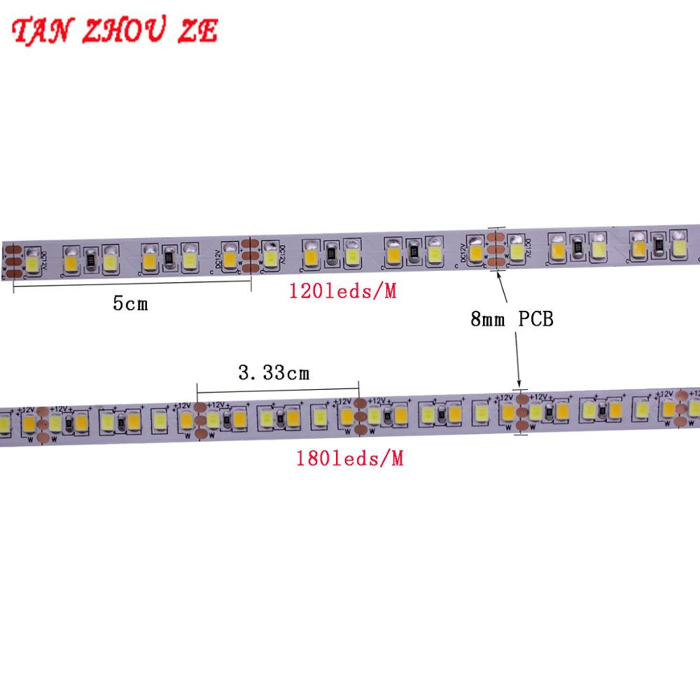 Image 2 - 5M Dual Color CRI>80 SMD2835 CCT Dimmable LED Strip Light 12V DC WW CW Color Temperature Adjustable Flexible LED Tape Ribbon-in LED Strips from Lights & Lighting