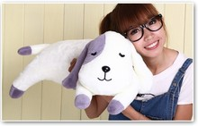 Plush dog pillow toy lovely lying dog cute stuff doll birthday gift about 82cm purple