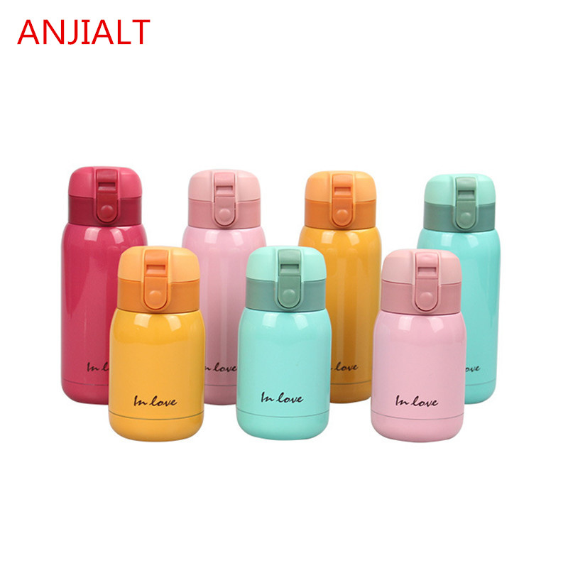200 / 300ml Wanita Thermos Mini Anak Thermo Stainless Steel Vacuum - Dapur, makan dan bar - Foto 2