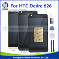 For HTC Desire 626 626G 626W 626D 626T D626W LCD Display Touch Screen Digitizer Assembly Replacement+Frame Black White Blue+Tool