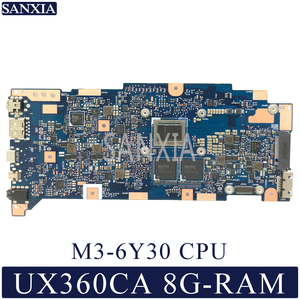 KEFU UX360CA Laptop płyta główna do asusa ZenBook odwróć UX360CA oryginalna płyta główna 8G-RAM M3-6Y30
