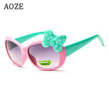 2019 AOZE Kids glasses Girls Hot fashion sunglasses Retro cu