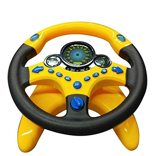 Copilot Toy Steering Wheel,Copilot Simulated Steering Wheel Sounding Toy Children's Electronic Education Educational Toys