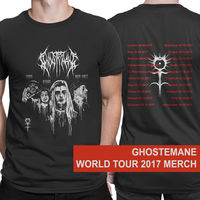 GHOSTEMANE World Tour 2017 Dates T Shirt Men Two Sides Casual Gift Tee USA Size S