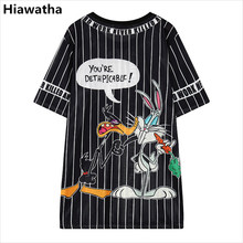 Hiawatha verano T camisa las mujeres de dibujos animados impreso hueco camisetas Harajuku estilo Casual Tops sueltos T2470