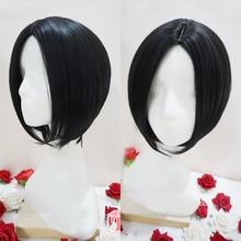 NANA Oosaki Nana черный короткий прямой центральный пробор прически термостойкие волосы косплей костюм парик+ шапка парик