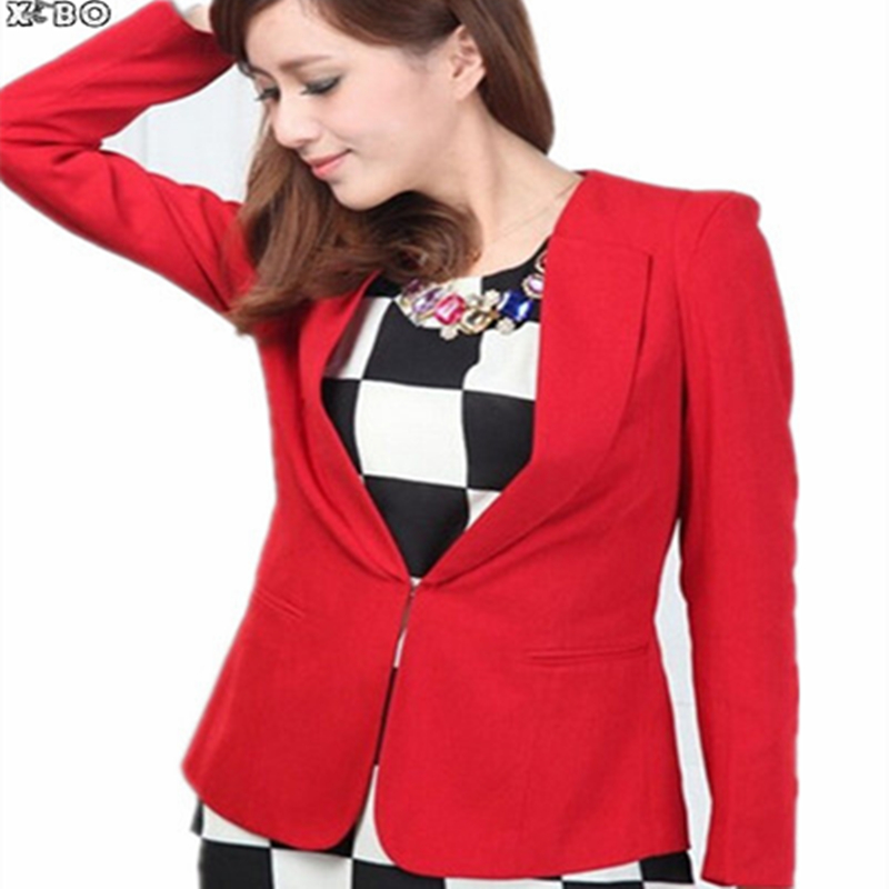 2016 Autumn New Korean Women Casual Fashion Shrug Small Suit Jacket, Solid Long Sleeve Coat Plus size :S-M-L-XL-XXL-XXXL-XXXXL - Shop111184 Store store