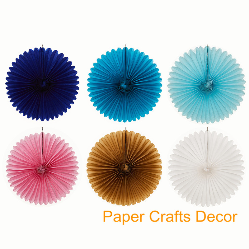 8inch20cm Foldable Tissue Paper Pinwheel Fans Hanging Wall