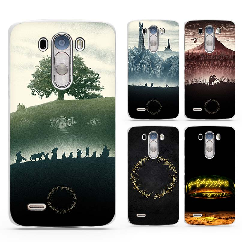 LORD OF THE RINGS Hard White Plastic Phone Cases Cover Shell Coque for Cell  for LG 14a9f0079e7d