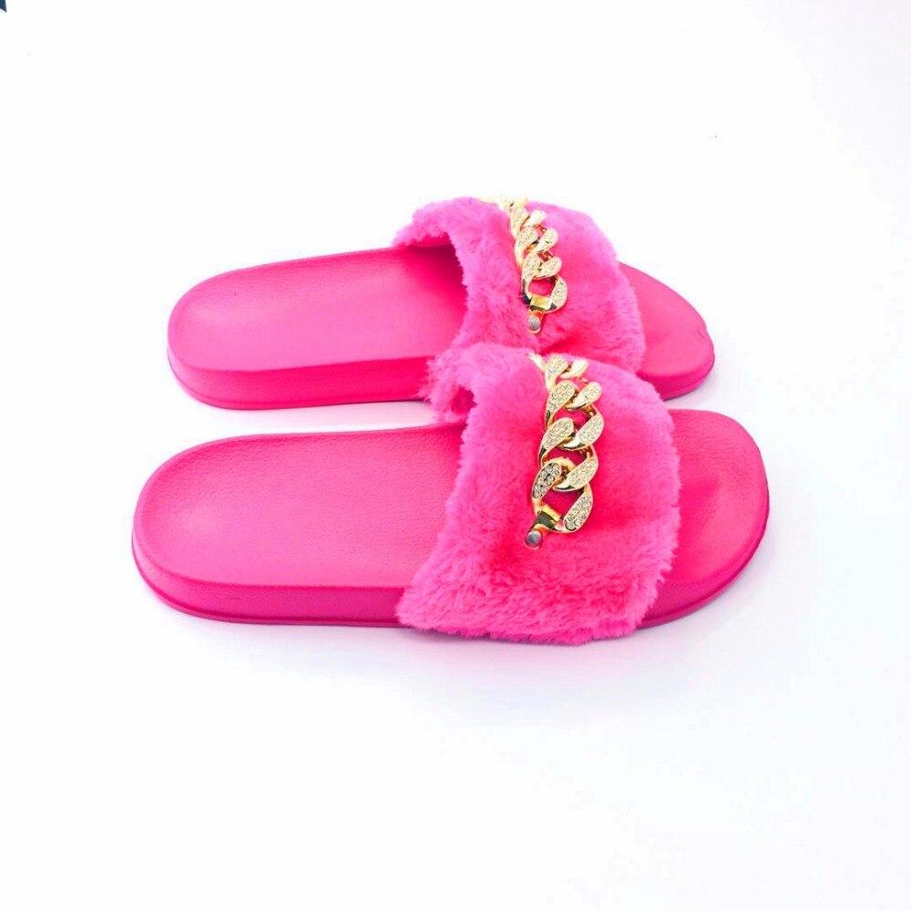 AoXunLong Zapatillas Mujer Furry Slide Zapatillas de casa Moda - Zapatos de mujer - foto 5