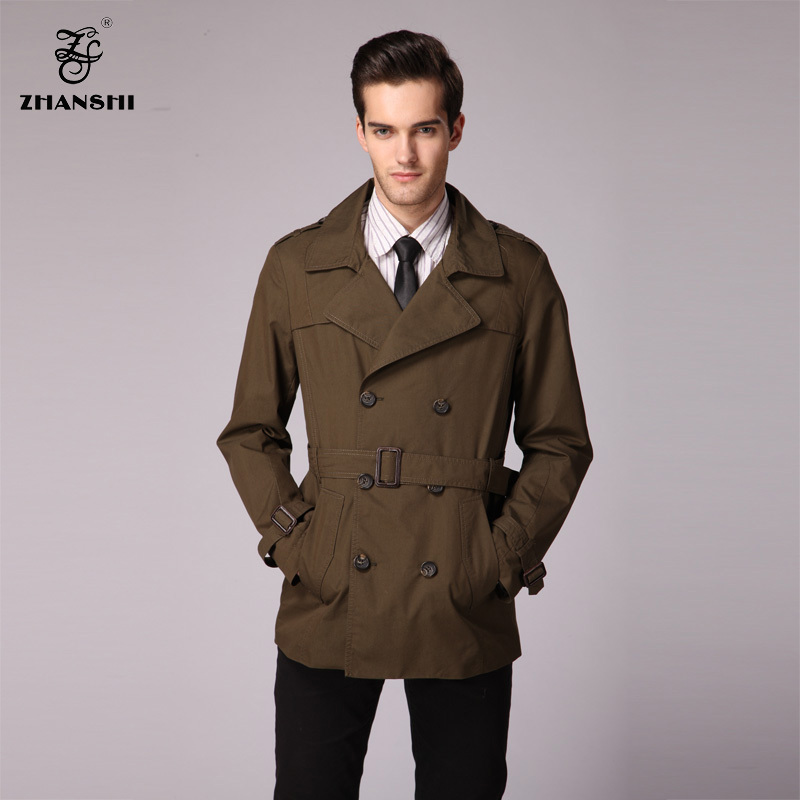 Popular Men Double Breasted Pea Coat High Collar-Buy Cheap Men ...