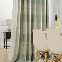 High Quality Jacquard Curtain Cube Geometric Modern Black Window Curtains for Living Room Rideaux Pour Le Salon Cortinas