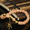 Romantic natural orange jade gold-plated Paris Tower accessories bracelets 6mm round beads hot sale jewelry making 7.5inch B1971