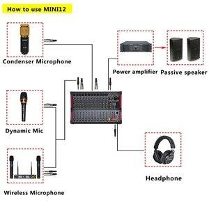 Image 5 - Freeboss MINI12 enregistrement Bluetooth 12 canaux (Mono) 99 DSP effet USB fonction de lecture et denregistrement table de mixage Audio professionnelle