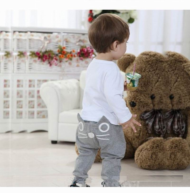 2016 spring and autumn kids clothing boys girls harem pants cotton owl trousers baby pants
