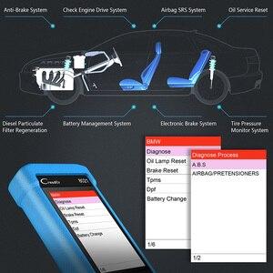 Image 4 - Starten CR8021 OBD2 Automotive Scanner Diagnose Tool DPF Regenerieren Öl Reset ABS Airbag TPMS BMS EPB Sytem OBD 2 Scan werkzeug