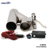 2 EXHAUST CATBACK TURBO ELECTRIC E CUTOUT VER 2 With REMOTE UNIVERSAL PERFORMANCE For Jeep Wrangler TK CUTNEW20