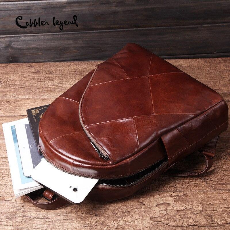 Image 2 - Cobbler Legend Backpack Women 2019 Laptop Bagpack Vintage Classic  Genuine Leather Womens Backpack Ladies Bag Mochila FemininaBackpacks