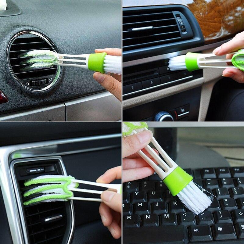 NICECNC портативный двухсторонний автомобиль Кондиционер Vent кисточка для чистки зазоров кисточки приборов пыли жалюзи щётка для чистки клави...