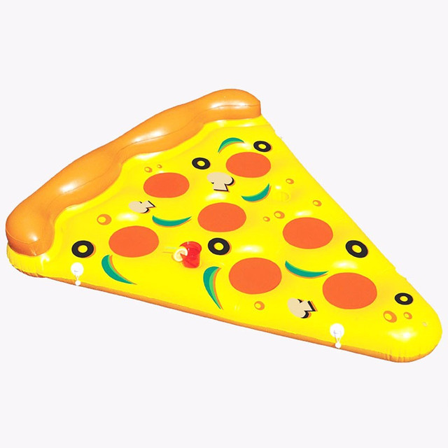 Giant Inflatable Pizza Summer Water Toys Inflated Float Outdoor Fun Beach Resting Lounger Air Mattress