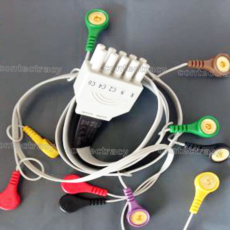 17 NEW  factory send 10 leads ECG/EKG Holter Cable 10-in-1 design FOR 12 LEAD ECG MACHINE Dynamic TLC5000 ECG Holter use ONLY papa care детский крем гель для купания 250 мл с помпой papa care