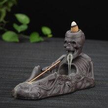 Backflow Incense Burner Creative Home Decor Skull Ceramic Incense Holder Censer Halloween Decoration Gifts