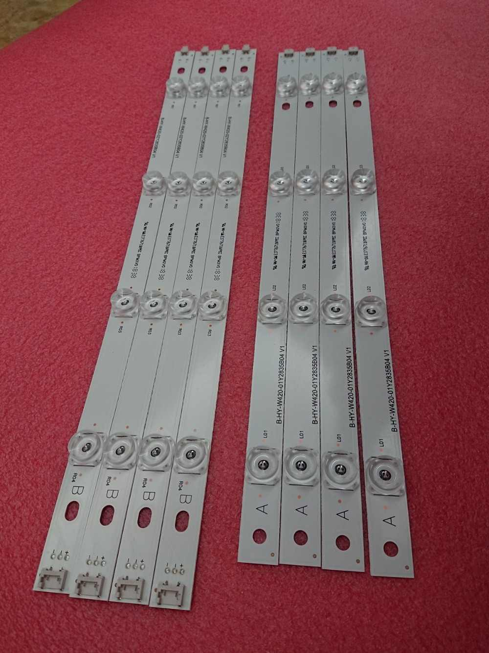 Baru Kit 8 Pcs LED Strip Pengganti LG LC420DUE 42LB650V 42LF5500 Innotek DRT 3.0 42 Inch B 6916L-1957A 6916L-1956A