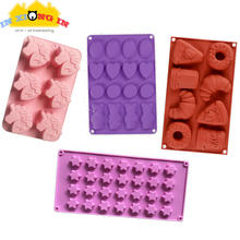 Kawaii Unicorn Bear Silicone Mold DIY Epoxy Resin Jewelry Tools Pizza Donut Silicone Molds Cabochon Pendant Charms