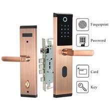 Sensor Biométrico de Impressão Digital Fechadura Da Porta de Segurança eletrônica Digital Combinação Keyless Fechadura Da Porta Código Passowrd Para Casa Inteligente